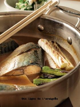 ウチの定番・さばの味噌煮。