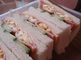 ハム☆卵サンド 行楽のお弁当に!