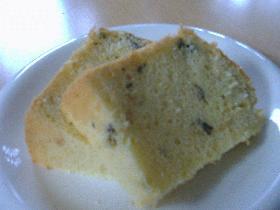 梅干で甘酸っぱいシフォンケーキ