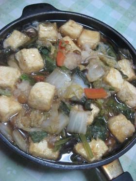 豆腐となめこのみぞれ鍋(^。^)