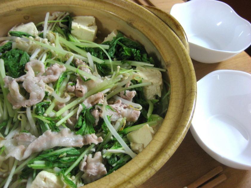 野菜と豚のヘルシー蒸し鍋