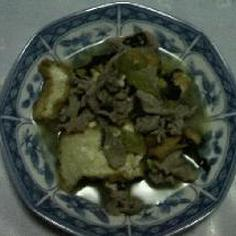 豚肉と小松菜とあつあげの煮物