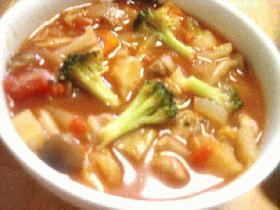 豚肉と野菜のトマトスープ