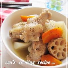 手羽元と根菜の塩バター煮
