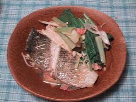 白身魚の蒸し皿 中華風