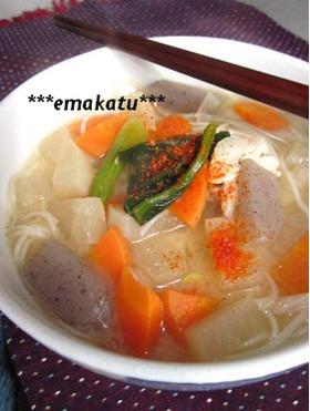 あったか温麺(にゅうめん)