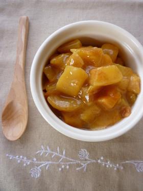 レンジで作る❤とろとろ柿のコンポート♫