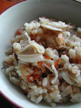 ハマグリの炊き込みご飯