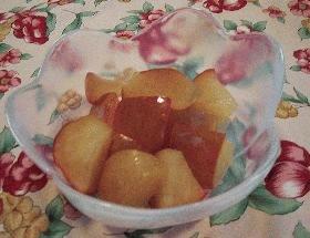 りんごのワイン煮