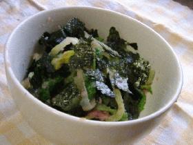 青菜(菜っ葉)のタラコ和え