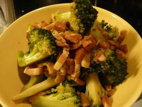 ブロッコリーとベーコンの炒め煮