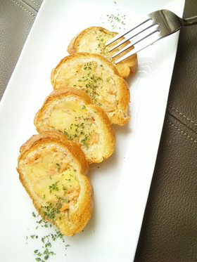 サーモンポテト♪スタッフド・フランスパン