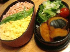 鮭のそぼろ丼弁当
