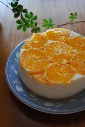 オレンジのチーズムース