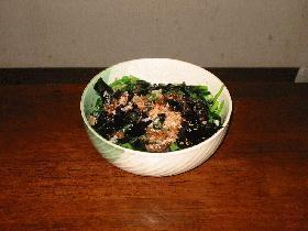 小松菜とわかめのお浸し