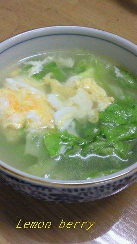 超簡単☆レタススープ