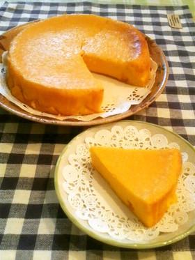 ハロウィンに☆なめらか♪南瓜チーズケーキ