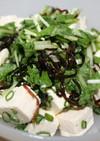ネギ塩豆腐