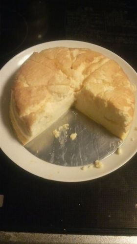 ミキサーで簡単♪ スフレチーズケーキ