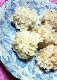簡単✿余りもち米で❀まん丸✿シューマイ