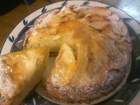 キャラメル林檎のケーキ