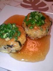 冷凍豆腐でハンバーグの写真