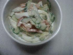 卵と野菜のサラダ