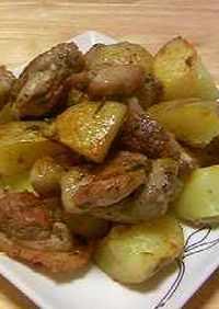 鶏肉とポテトのローズマリー焼き