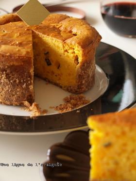 どっさりカボチャのパンプキンチーズケーキ