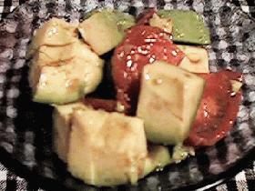 アボガド&トマトの和風柚子コショウマリネ