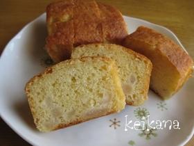 ホットケーキミックスと梨で超簡単ケーキ