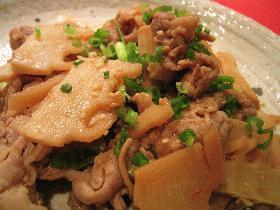 豚肉とタケノコのピリ辛炒め