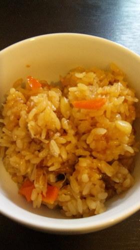 角煮の煮汁で中華風おこわ