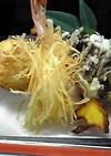 さつま芋のいがぐり揚げ*まいたけの天ぷら