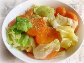 レンジで☆人参とキャベツのホッと温サラダ