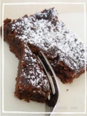 トースターで簡単チョコレートケーキ