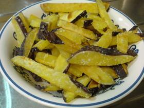 サツマイモの塩バター焼き