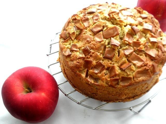 秋ぴったり*りんごと紅茶のふわふわケーキ