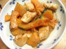 鶏肉とかぼちゃのみそ炒め