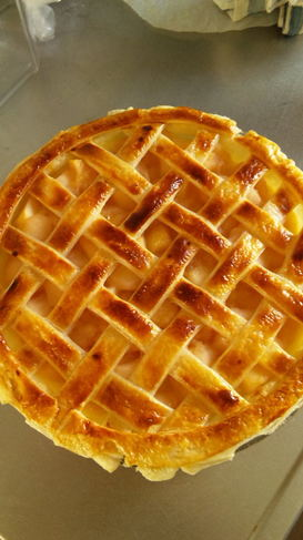 サツマイモがinしたアップルパイ