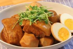 お味噌で豚の角煮