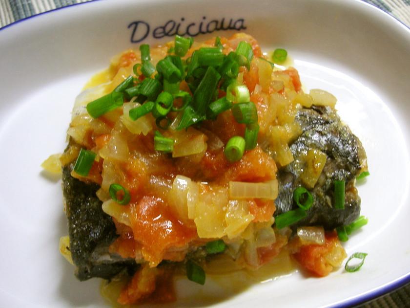 鯖の和風トマト煮