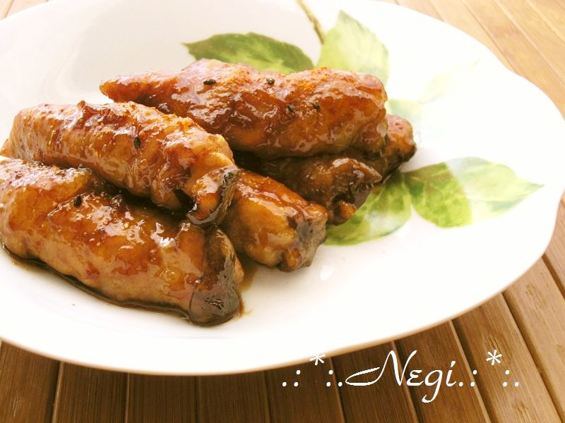 ∮エリンギの肉巻き✰甘辛✰彡照り焼き∮