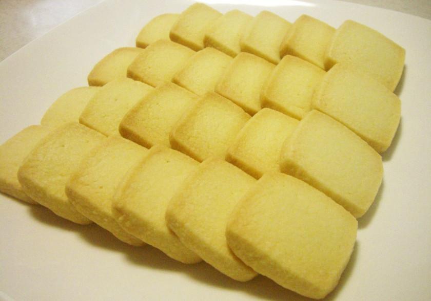 材料3つのさくさくバタークッキー♪