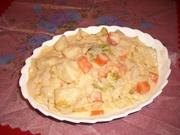 野菜たっぷり濃厚~★エビクリームパスタの写真