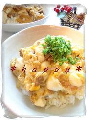 ✿豚ひき肉とくずし豆腐の卵とじ丼✿の写真