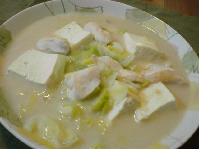 豆腐とキャベツのクリーム煮♪(みそ味)