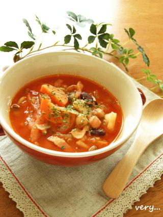 ✿ 野菜とお豆のほっこりトマトスープ ✿