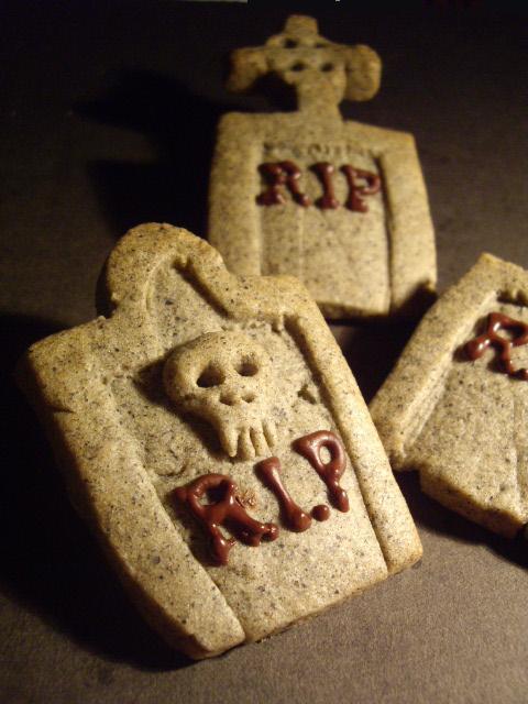 ☠ 墓石とお城 ☠ハロウィン胡麻クッキー