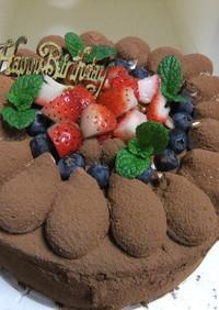 チョコレートケーキ  ティラミス風味